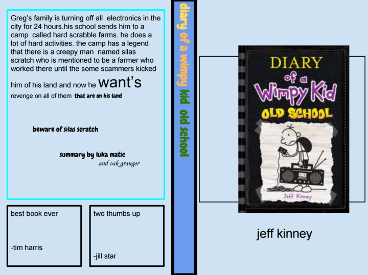 Diary Of A Wimpy Kid Kid Old School
