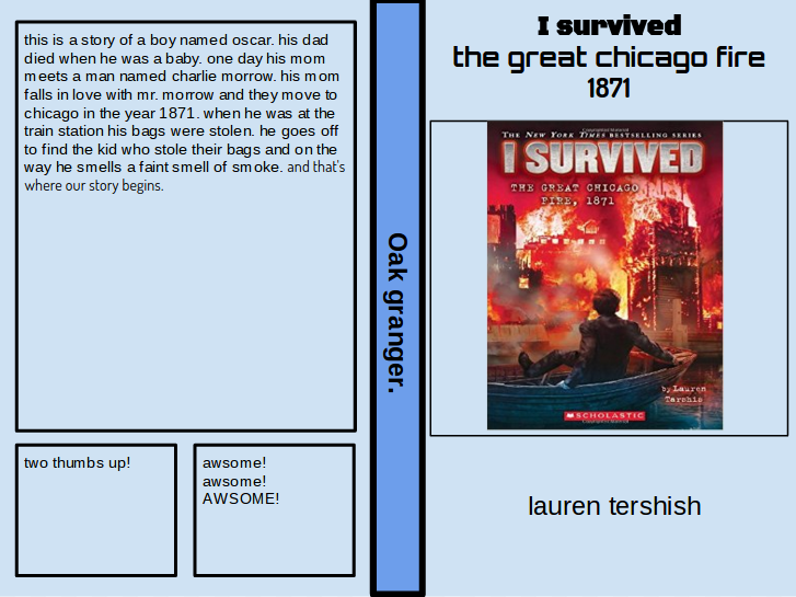 Student Book Review: Oak's Review of I Survived the Great Chicago ...